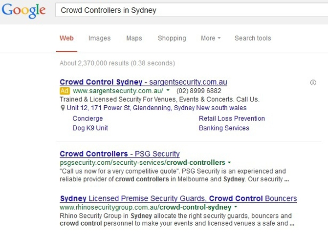 Crowd Controllers in Sydney