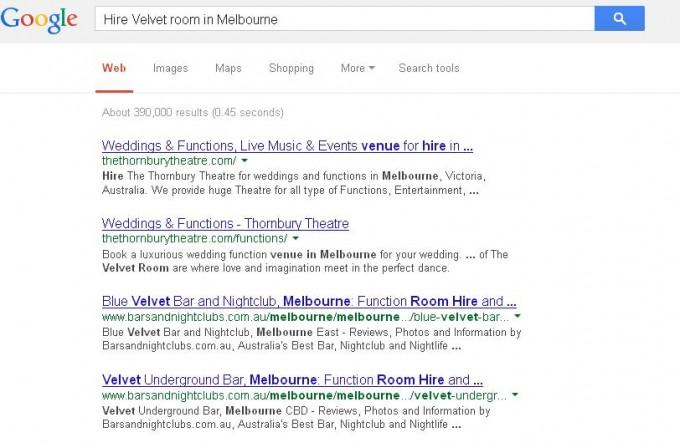 Hire Velvet room in Melbourne