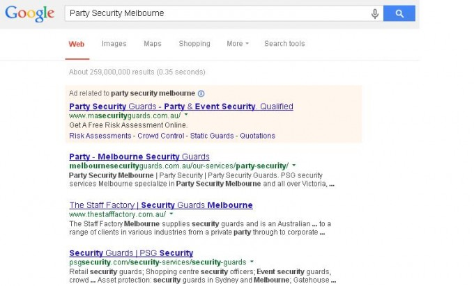 Party security Melbourne
