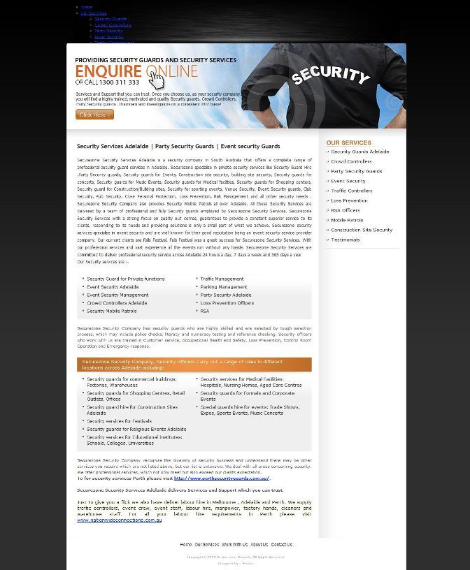 Adelaidesecurityservices.com