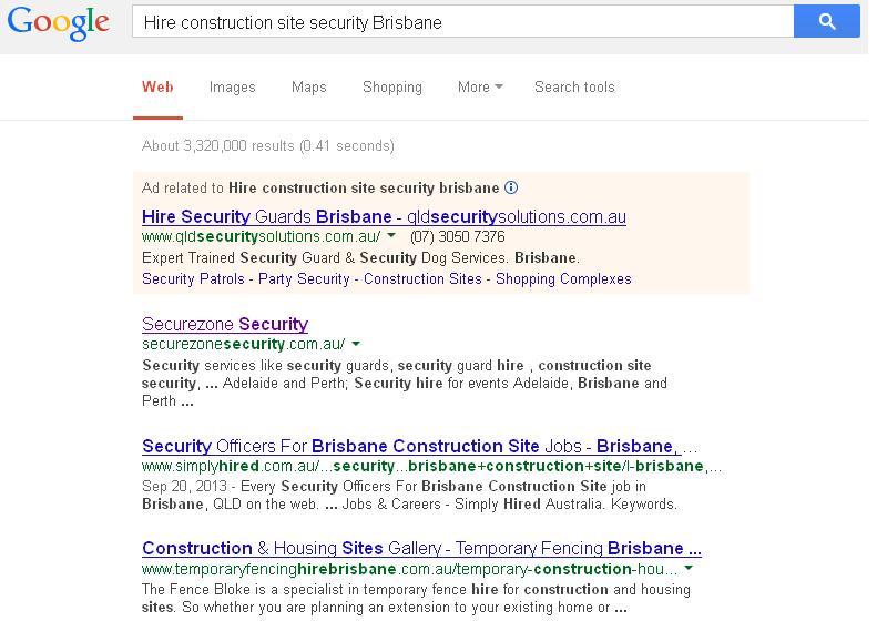 Hire construction site security Brisbane