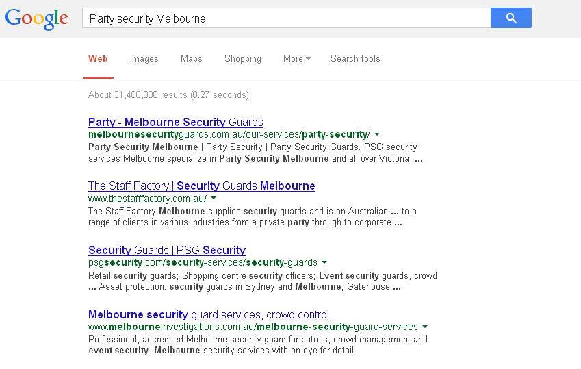 Party security Melbourne1